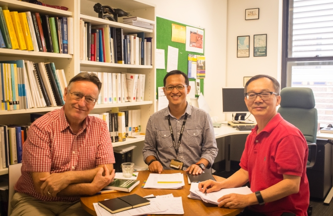 10. Prof Chris Evans, Arifin, and Prof Binh Tran-Nam